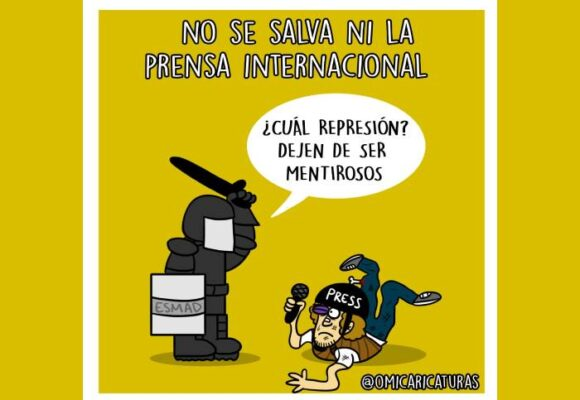 Caricatura: No se salva ni la prensa internacional