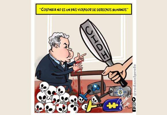 Caricatura: La CIDH en Colombia