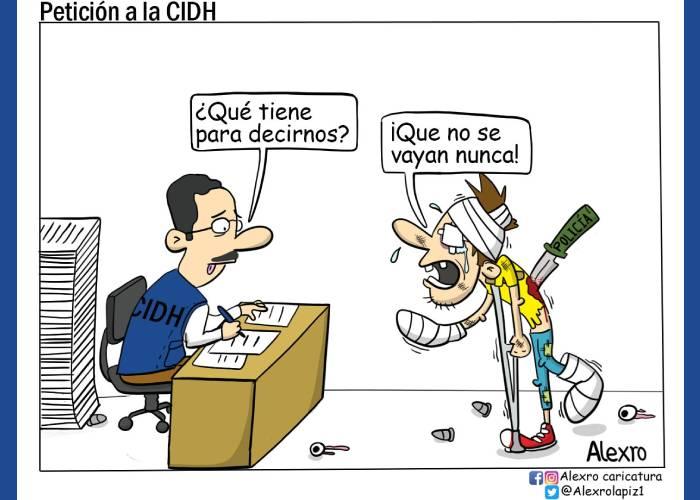 Caricatura: Petición a la CIDH