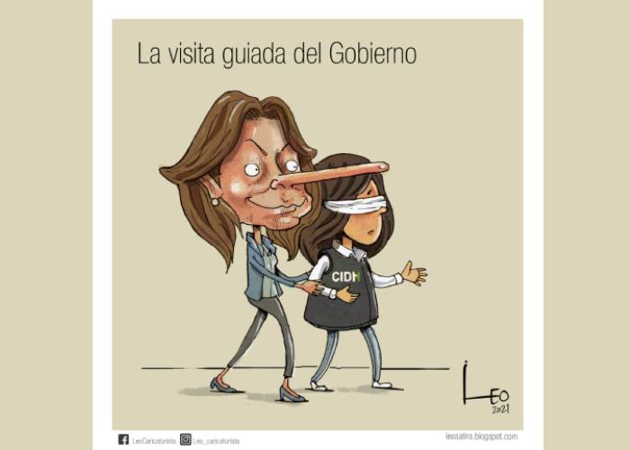Caricatura: La visita guiada del gobierno