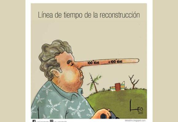 Caricatura: Línea de tiempo de la reconstrucción