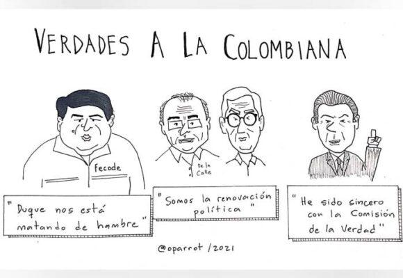 Caricatura: Verdades a la colombiana