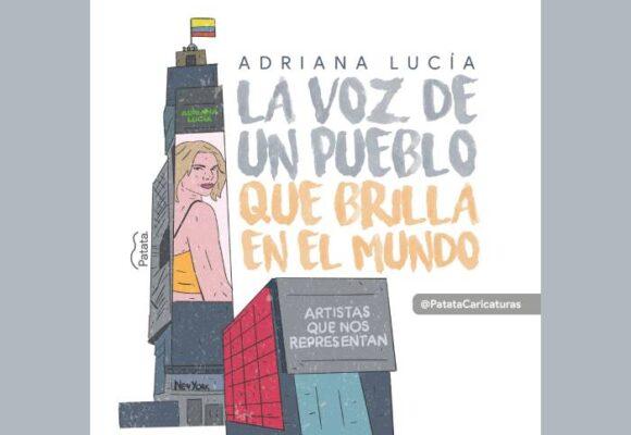 Caricatura: Adriana Lucía brilla