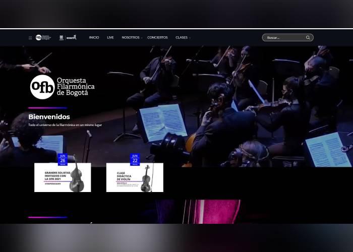 La Orquesta Filarmónica de Bogotá tiene un nuevo espacio virtual