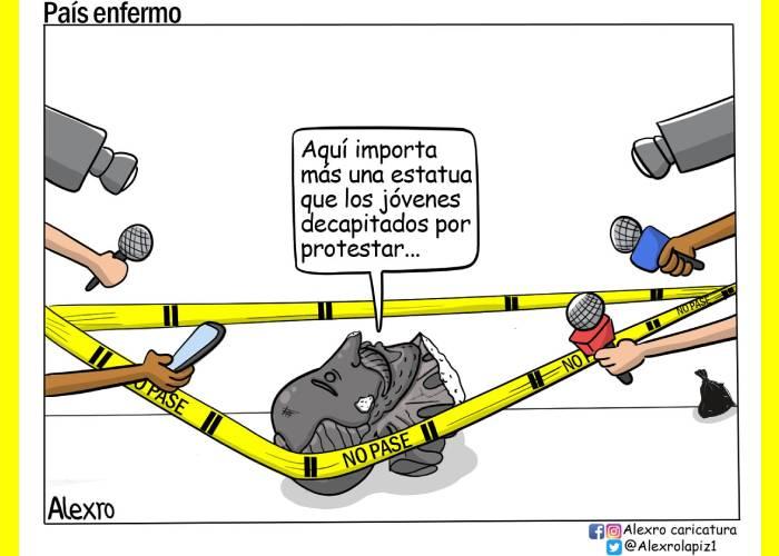 Caricatura: País enfermo