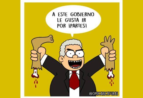 Caricatura: ¡A este gobierno le gusta ir por partes!