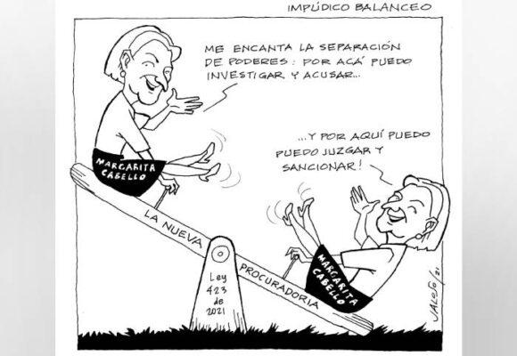 Caricatura: Impúdico balanceo