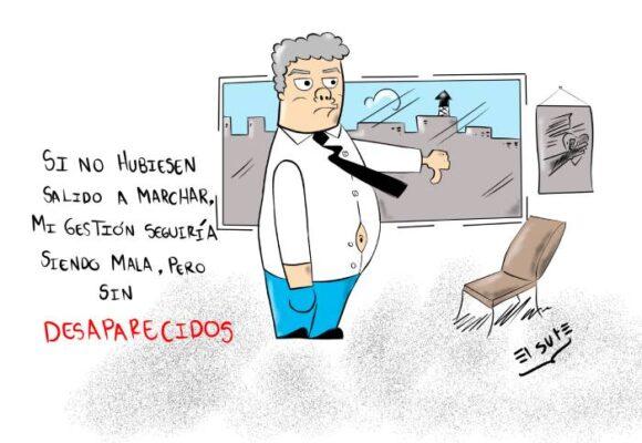 Caricatura: Hipocresía ejecutiva