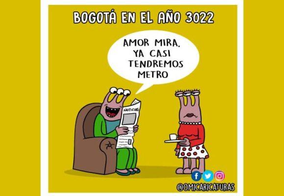 Caricatura: Bogotá en el año 3022