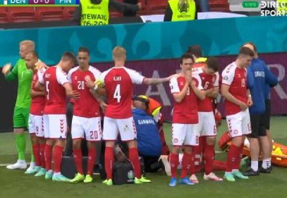 Drama en la Eurocopa: Eriksen se desploma en pleno partido