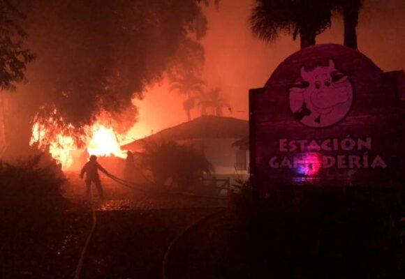 El incendio que desveló a los trabajadores de Panacá