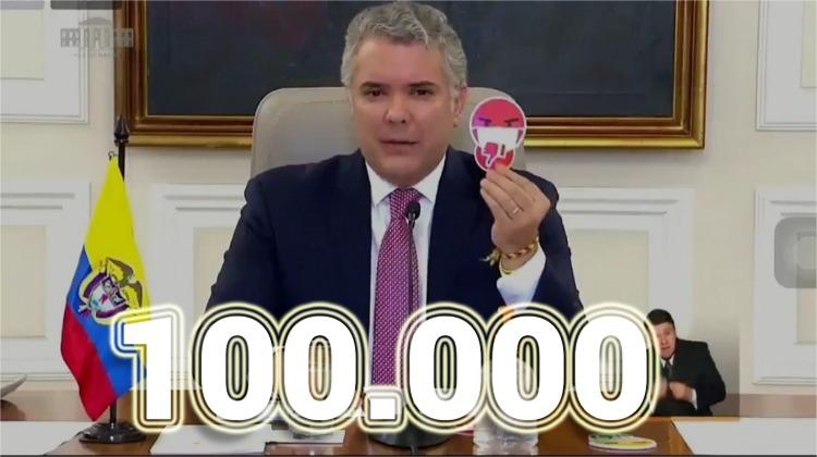 El presidente de los 100.000 muertos