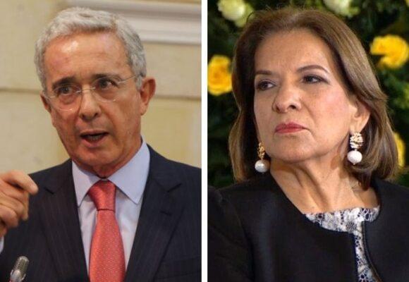 Uribe y la procuradora Margarita Cabello: la distancia entre los dos es cada día más grande