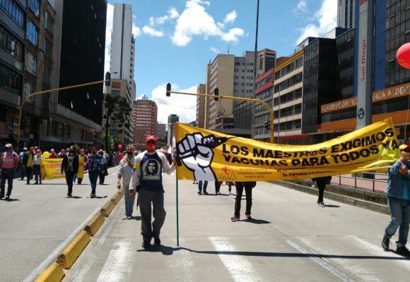 Nuevo día de marchas en Bogotá