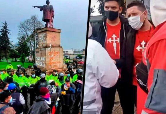 """""""La Columna"""", el grupo neofacista que persigue a los misak y a venezolanos en Bogotá"""