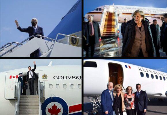 Los aviones de los 7 poderosos presidentes de occidente