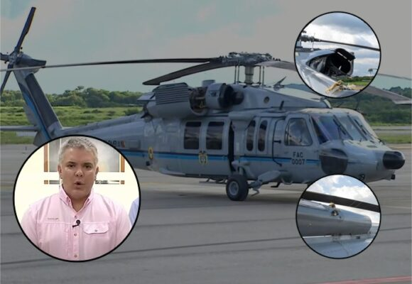 El poderoso helicóptero Black Hawk que le salvó la vida a Duque