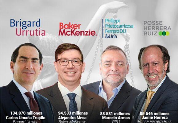 Top 15: los abogados que más ganan plata en Colombia