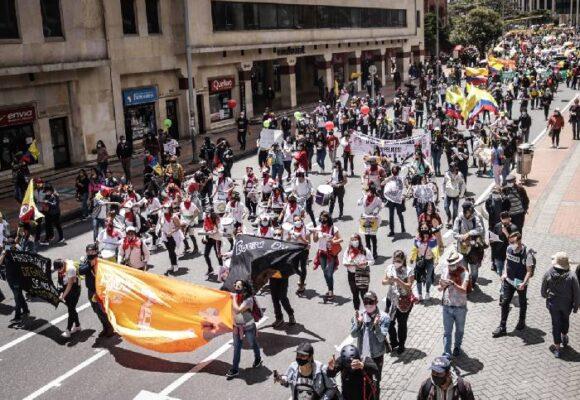 ¡Ojo con los trancones! Estos son los principales puntos de manifestación en Bogotá