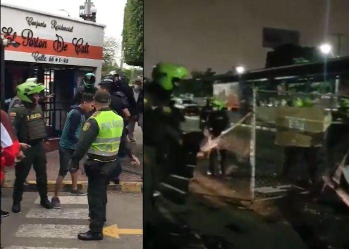 Enfrentamientos entre autoridades y ciudadanos en la barricada de Paso del Comercio en Cali