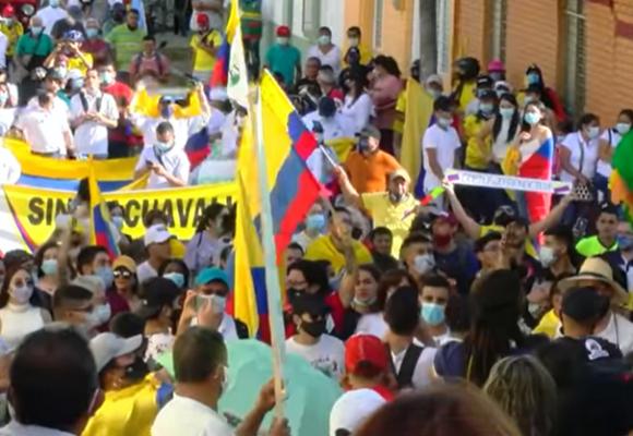 Sevilla Valle, otra capital de la protesta en Colombia