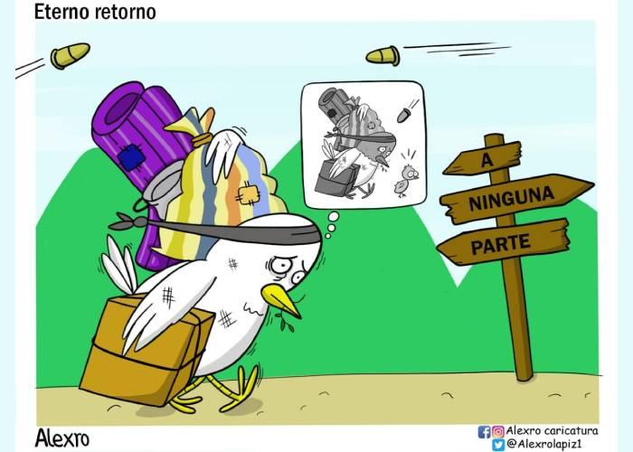 Caricatura: El eterno retorno de la violencia