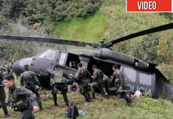 VIDEO: La caída de un helicóptero con 19 policías en Ituango