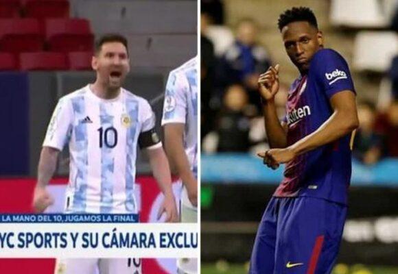 Cuando Messi disfrutó el baile de Yerry Mina: ahora se burla del colombiano