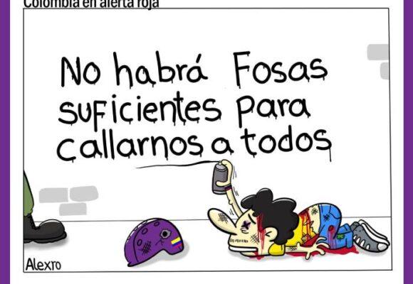 Caricatura: Colombia, en alerta roja