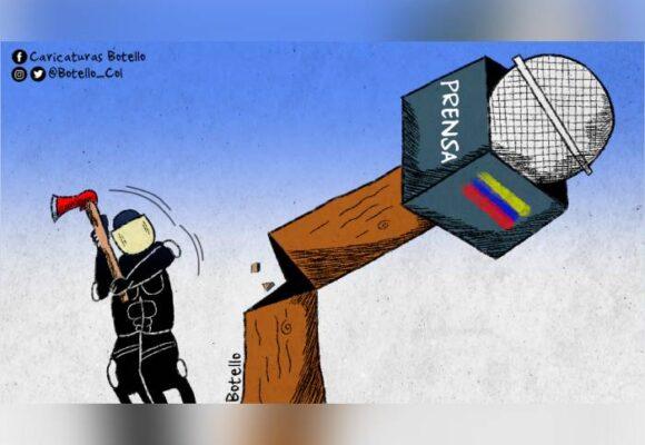 Caricatura: Represión policial