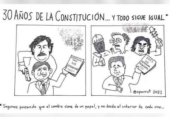 Caricatura: Treinta años de la constitución… y todo sigue igual
