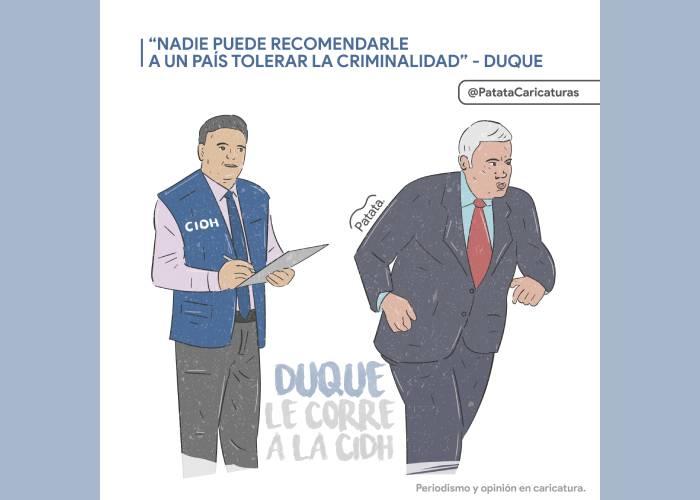 Caricatura: Duque le corre a la CIDH