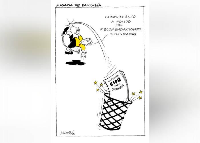 Caricatura: Jugada de fantasía