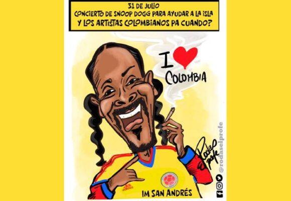 Caricatura: Con la camiseta puesta por Colombia