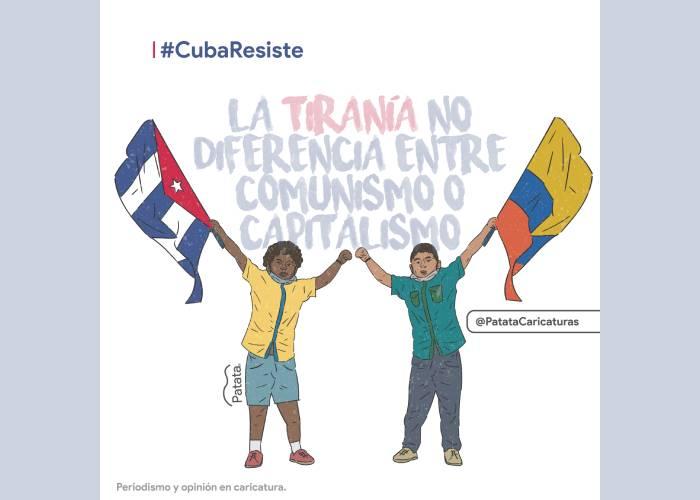 Caricatura: ¡Cuba resiste!
