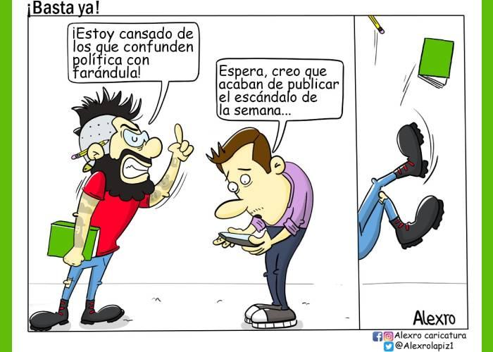 Caricatura: ¡Basta ya!