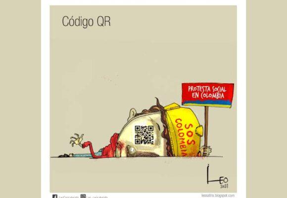 Caricatura: Código QR