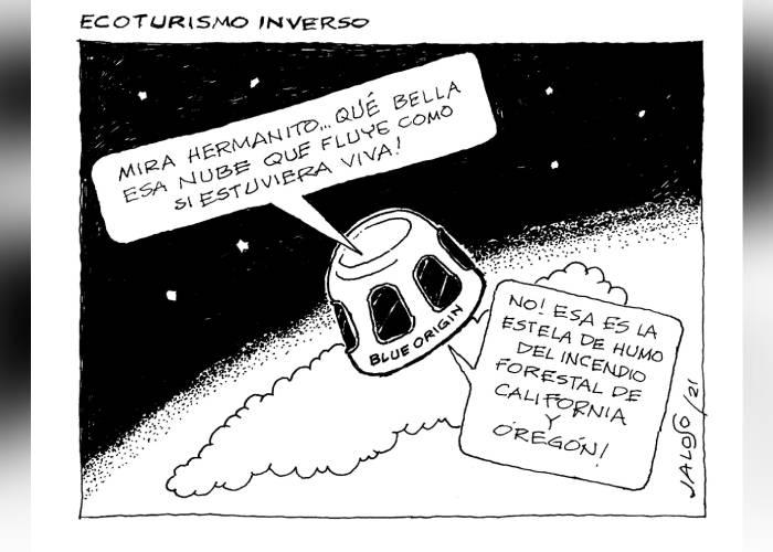 Caricatura: Ecoturismo inverso