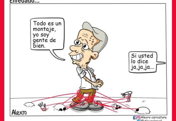 Caricatura: Enredado...