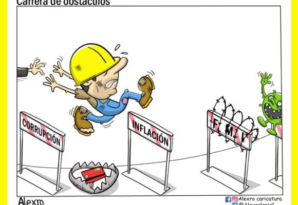 Caricatura: Carrera de obstáculos