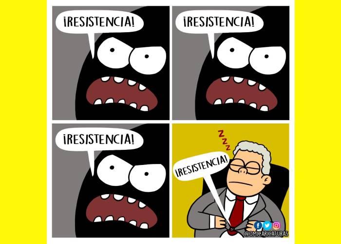 Caricatura: El botón, en pie de lucha