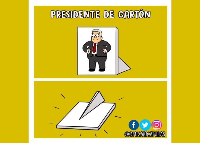 Caricatura: Un presidente de cartón