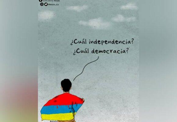 Caricatura: ¿Cuál independencia?
