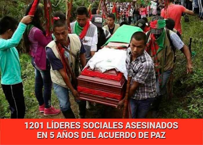 86 líderes sociales asesinados y 46 masacres en lo que va del 2021