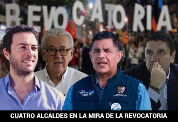 Los líderes de las revocatorias de cuatro capitales