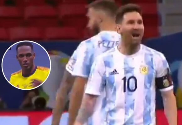 Video: El momento exacto en el que Messi se venga de los bailecitos ridículos de Yerry Mina