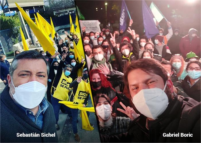 Caras jóvenes en la pelea por la presidencia de Chile en Noviembre