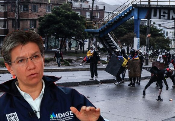 Primera Línea deja plantada a la alcaldesa Claudia López