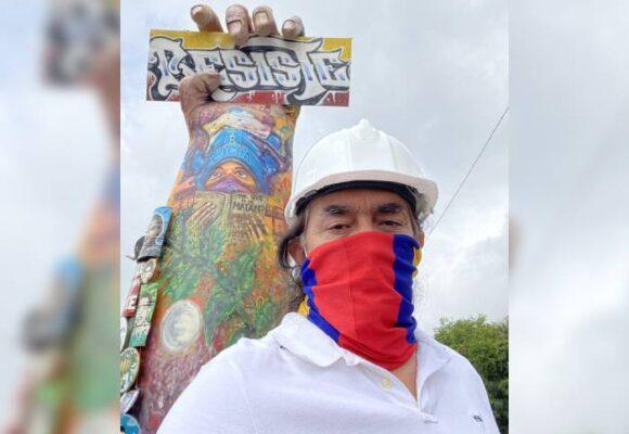 El senador Gustavo Bolívar le hizo homenaje a las resistencias de Cali
