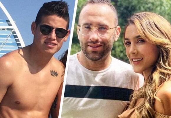 El llanto de la hija de James Rodríguez por la eliminación de Colombia